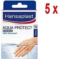 5 x Hansaplast Pflaster Aqua Protect Hände - 16 Streifen preisvergleich bei billige-tabletten.eu