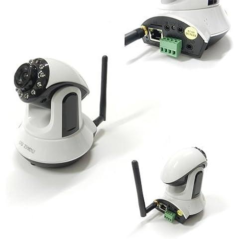 TELECAMERA IP CAMERA HD 720P WIRELESS LED INFRAROSSI LAN RJ45 MOTORIZZATA WIFI