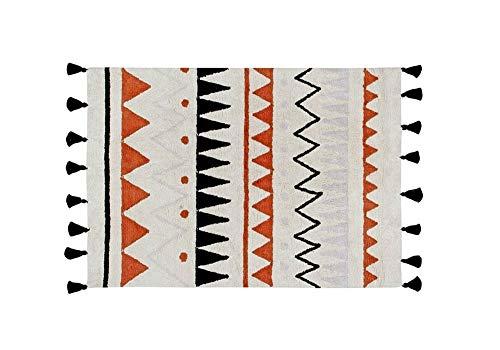 Lorena Canals Naturel aztèque Lavable Tapis, Coton, Terre Cuite, 120x 160x 30cm