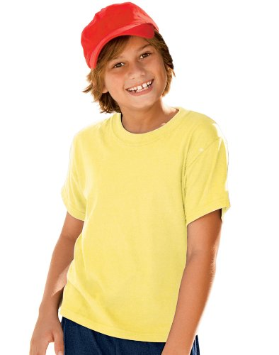 Hanes Comfort Blend Cotton Poly T-Shirt Yellow