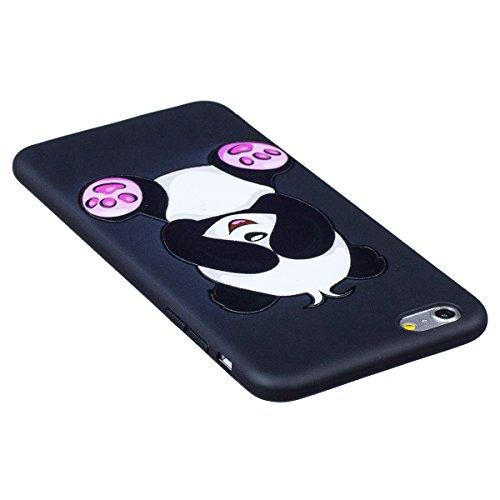 "MOONCASE iPhone 6 Plus/iPhone 6s Plus Coque, [Relief Pattern] Flexible TPU Protection Housse Ultra Slim Armure Anti-choc Defender Etui Case pour iPhone 6 Plus/6s Plus 5.5"" Panda Shy"