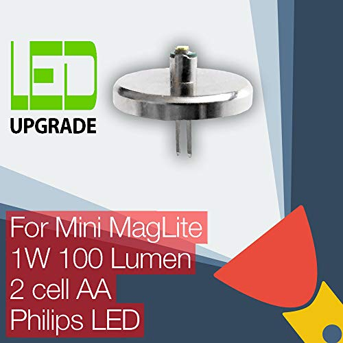 Mini MagLite LED Upgrade Ersatz lampe Taschenlampen 2AA zellen Mini Mag-led