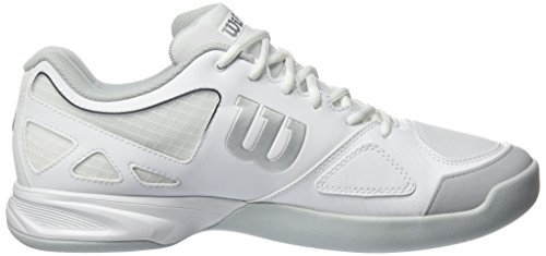 Wilson Rush Evo Carpet, Scarpe da Tennis Uomo Bianco (White/pearl Blue/navy)