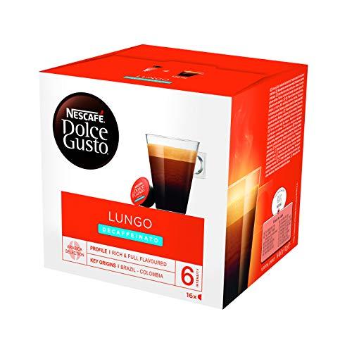 Nescafé Dolce Gusto Café Lungo Descafeinado - 16 Cápsulas de Café