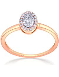 Malabar Gold And Diamonds 18KT Rose Gold And Diamond Ring For Women
