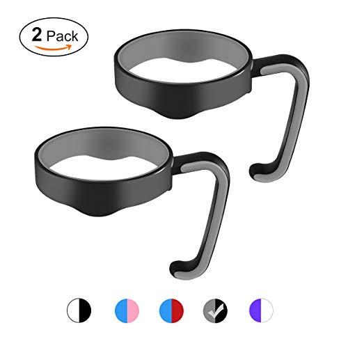 Uniqueheart nero + grigio portable pp 20 oz maniglia portatovagliolo antiscivolo maniglia per tazza senza cuciture per yeti comoda mano a mano