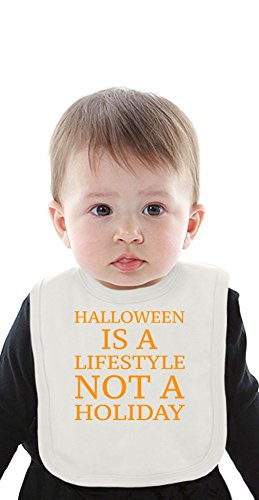 Halloween Is A Lifestyle Funny Slogan Organic Bib With Ties Medium