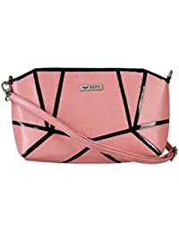 Bern Pink And Black Color Casual Sling Bag For Women