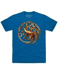 Official Game of Thrones - House Targaryen Metallic T-shirt, Pour homme