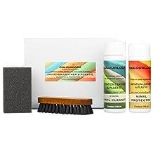 KIT vinilo/polipiel/skay Colourlock® limpia y mantiene polipiel, skay y plásticos de sofás, barcos, coches, moto, etc