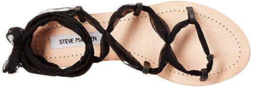 Steve Madden Women's Jovanna Gladiator Sandal Black Leather