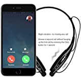 ROYAL HBS-730 Wireless Bluetooth Stereo Headset/Headphone||Wireless Bluetooth Headset/Bluetooth Headphone With Mic & Call Features....(Black) Compatible For Moto E4 Plus