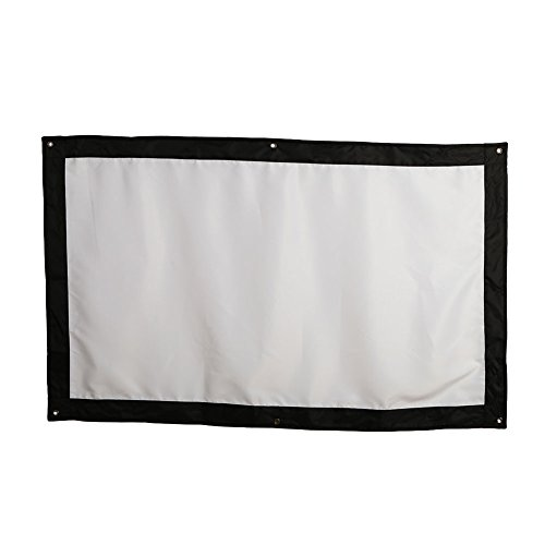 MingXiao Projection Screen Projector Curtain Portable 84inch Glass Yarn Wedding Courtyard Outdoor Indoor Projector Screen