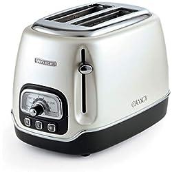 Ariete Grille pain Toaster 2 fentes Classica Perle, Blanc