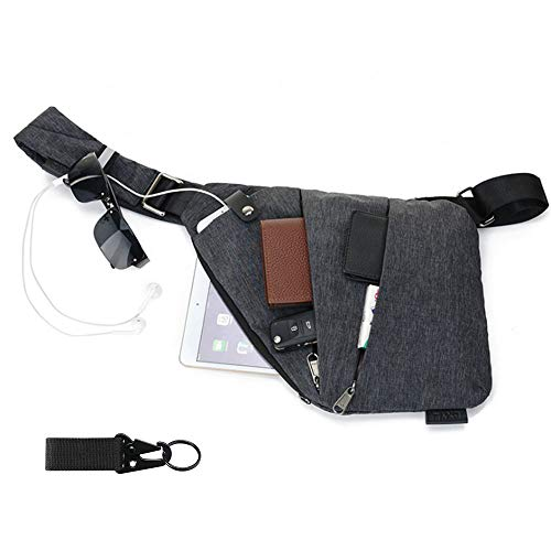 flintronic Zaino Monospalla Sling Bag, Borsa a Spalla Uomo, Borsello Tracolla (includere 1 * Cavo USB)