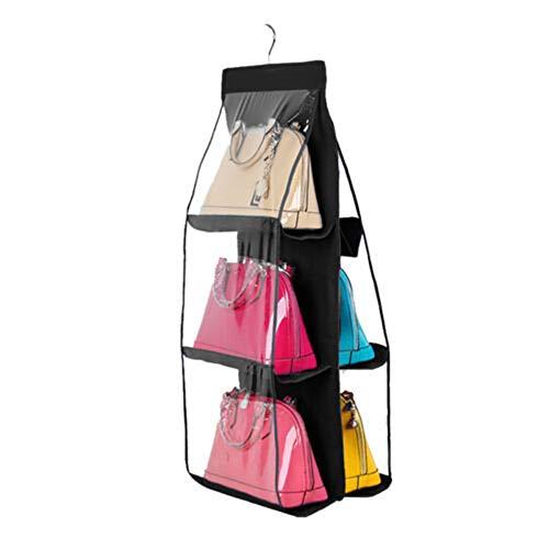 Tutyuity 6 Handtaschenhalter, Taschen klar hängende Handtasche Tote Bag Storage Organizer Closet Rack (Klare Tote Taschen)