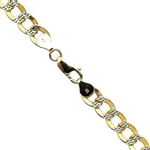 10K Diamant Gold-Hohl Italien kubanischen Kette–61cm lang 7,5mm breit