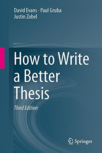 How to Write a Better Thesis por David Evans