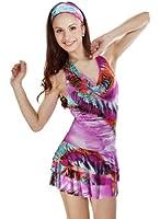 Samantha Look pinkes Minikleid rückenfrei Polyester Kleid