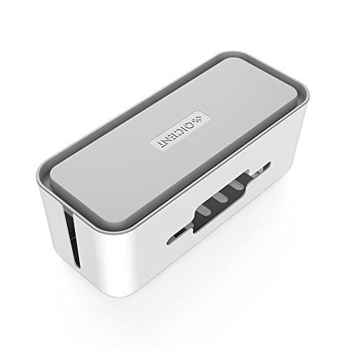 QICENT Power Strip Box Kabelführung [BIGGER ONE] für Big Power Strips, Big Surge Protektoren, TV Computer Kabel, USB Hub und mehr (16,93