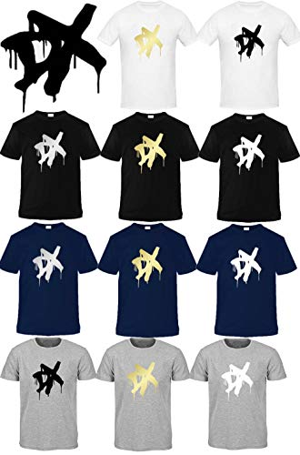 Amo Distro WWW D-Generation X Herren T-Shirt, kurzärmlig, Baumwolle Gr. S, Blue with Golden