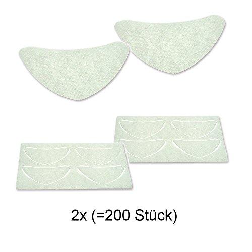 BINACIL Hautschutzblättchen, Schutz vor Hautverfärbungen, Wimpernwelle, 100 Stück, 2 Packungen