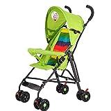 Meen Cochecito De Bebé, Amortiguador De Choque Desmontable Semi-portátil Plegable Ultra Ligero del Paraguas del Bebé (Color : Green)
