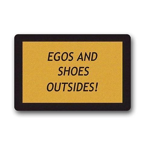 Egos And Shoes Outside Custom Doormat Area Rug Non-Slip Door Mats Home Decor for Indoor/Outdoor 23.6(L) X 15.7(W) Inch