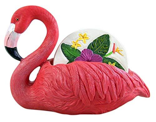 Untersetzer mit rosa Flamingo-Motiv, 4 Stück (9 Stück Runder Esstisch Set)