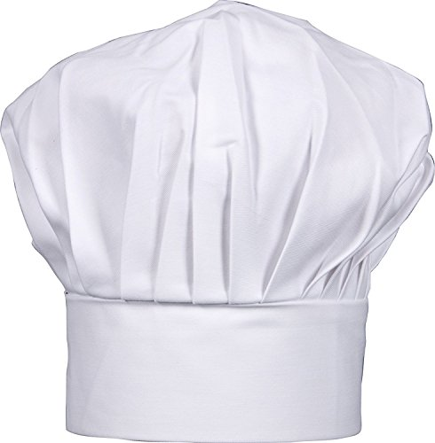 Harold Import Co Hic Gourmet Classics Adjustable Chef Hat, Cotton, White, Adult