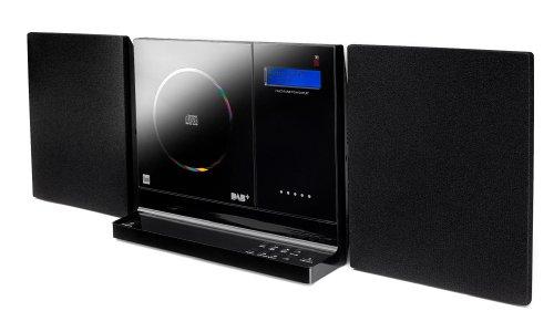 Dual Vertical DAB 101 Stereo Kompaktanlage mit Digitalradio (DAB+/UKW-Tuner, CD-Player, Weckfunktion, 3,5mm Klinke , SD-Kartenslot, USB) schwarz (Dual Radio Wecker Usb)