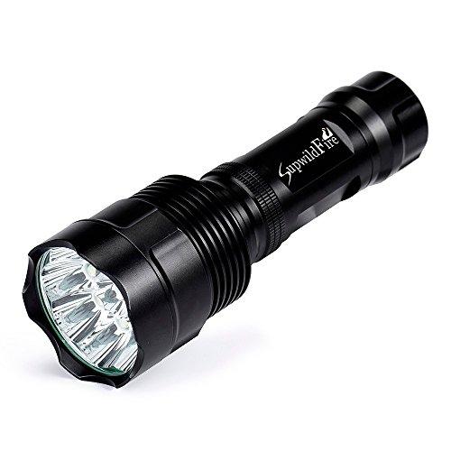LED Taktische Taschenlampe, Ulanda Superhelle 16x CREE XML T6 LED Taschenlampe 6000 Lumen, LED Camping Handlampe, 5 Lichtmodi, LED Militär Taschenlampen für Campen Wandern