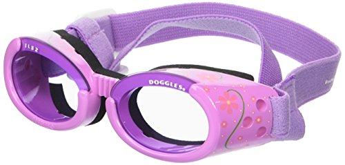Doggles ILS Hundebrille, Blumenmotiv, mit violetten Gläsern, klein, Lila