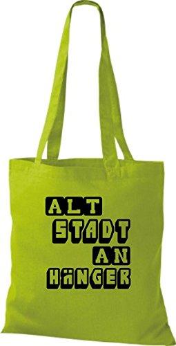 Shirtstown Stoffbeutel lustige Sprüche Altstadt Anhänger viele Farben kiwi