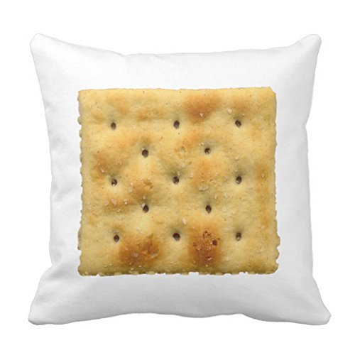 Zierkissenbezüge White Saltine Soda Crackers Sofa Pillow Cover Decorative Couch Cushion Cover for Living Room Canvas Slipcover 45 x 45cm Soda Protector