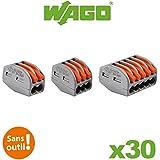 Wago - Panaché de 30 Bornes de connexion automatique 2, 3 et 5 entrées Blibox S222 WAGO