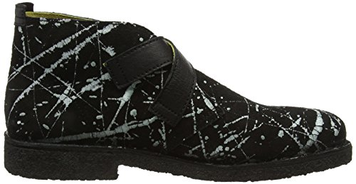 Fly London Cico904fly, Polacchine Uomo Nero (Black(white)/black 000)