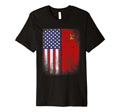 American sowjetischen T-Shirt Flagge UDSSR Hammer Sichel Russland CCCP