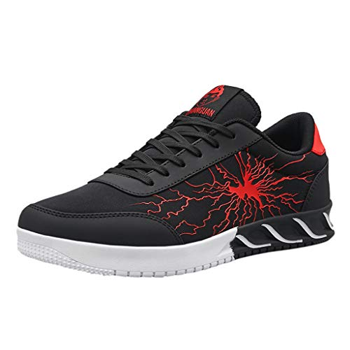 chuhe Mode 3D Printing Schnürer Atmungsaktiv Rutschfeste Sneaker Sportschuhe Turnschuhe für Männer Farben 39-44 EU Running Schuhe Gym Outdoor Fitness ()