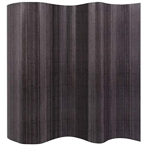 Wakects Raumteiler aus Bambus, faltbar, Raumteiler 250 x 195 cm, Grau