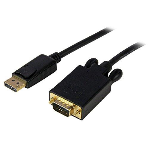 StarTech  DisplayPort® auf VGA Kabel 1,8m (Stecker/Stecker) - Aktiver DP zu VGA Kabel Adapter/ Konverter für PC 1920x1200 - Schwarz
