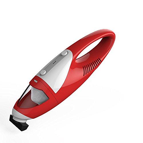 EVERTOP Mini Aspirateur portable sans fil et sans sac Aspirateur à main léger pour voiture Aspirateur de table Rouge