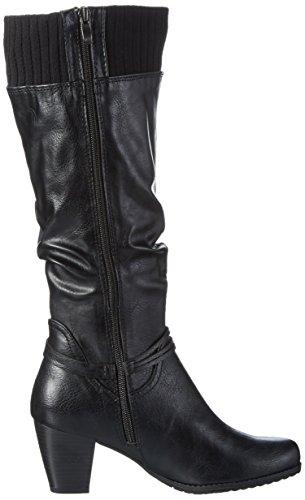 Marco Tozzi 25511, Bottes Haute Femme Noir (BLACK ANT.COMB 096)