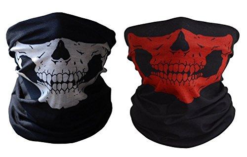 Meta-U 2/Pack Skull Print Multifunktions mit Kopfbedeckungen Face -