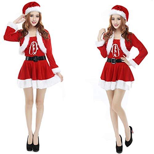 TUWEN WeihnachtskostüM Weihnachten KostüMe KostüM Performance KostüMe Weihnachten Tragen Erwachsene Damen Alle Werften (Kostüm Damen Tragen)