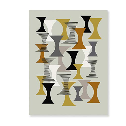XWArtpic Abstrakte Geometrische Skandinavien Leinwand Malerei Nordic Interior Poster und Druck POP Wandkunst Bilder für Wohnzimmer Wohnkultur 60 * 100 cm