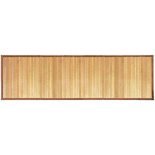 InterDesign Formbu Bamboo Tappetino Bagno Antiscivolo in Bambù, Beige, 53.3 x 152.4 cm
