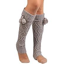 Calcetines,RETUROM Moda mujer Bowknot encaje de ganchillo de punto de ajuste de ajuste de