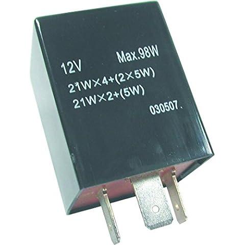 FL2 12 V 3 pin cuadrado Teckniks intermitente y arriesgar fusible