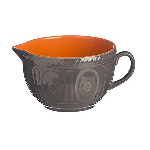 Mason Cash résistante aux impacts en faïence Pâte Bol à mélanger, en CÉRAMIQUE, Orange/Gris, 25.5 x 19 x 12.7 cm